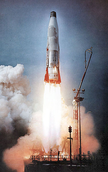 Launch of an Atlas B intercontinental ballistic missile - Wikipedia USAF photo
