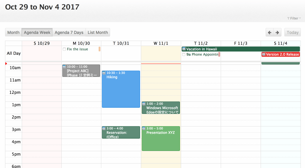 Dec 2017 | FullCalendar adds list and schedule views, ability to